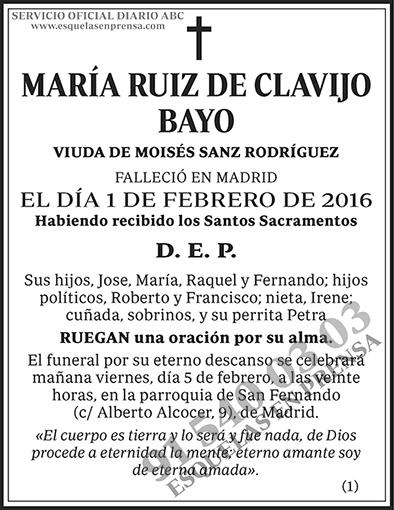 María Ruiz de Clavijo Bayo